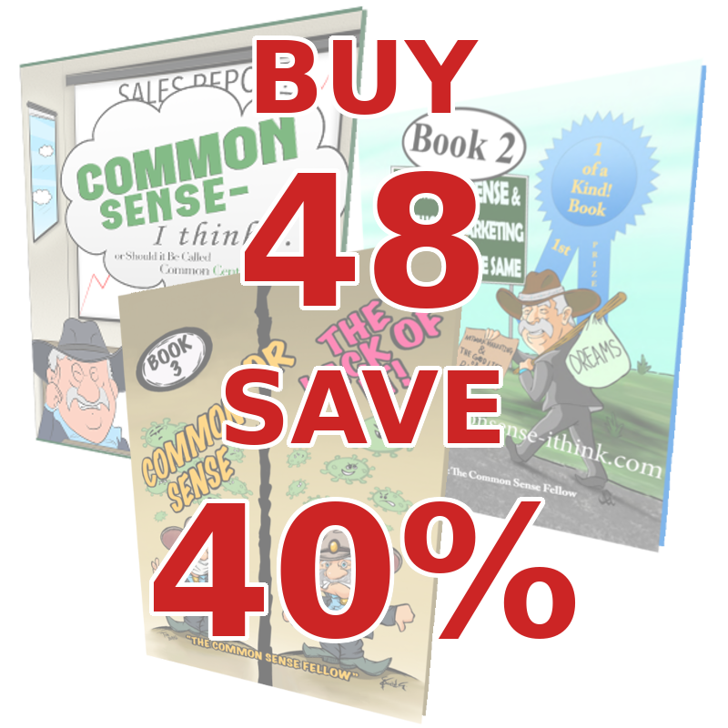 Common Sense Sample Pack [16 of Each Book]: Bulk Buy 48 Save 40%